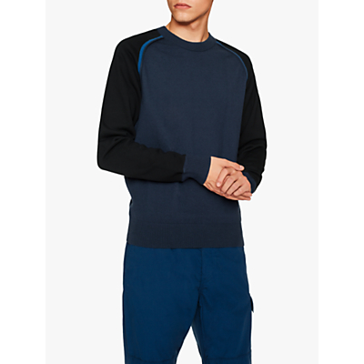 PS Paul Smith Colour Block Jumper, Navy