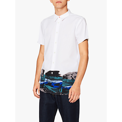 PS Paul Smith Landscape Short Sleeve Shirt, White