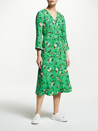 Finery Daniella V-Neck Floral Dress, Green