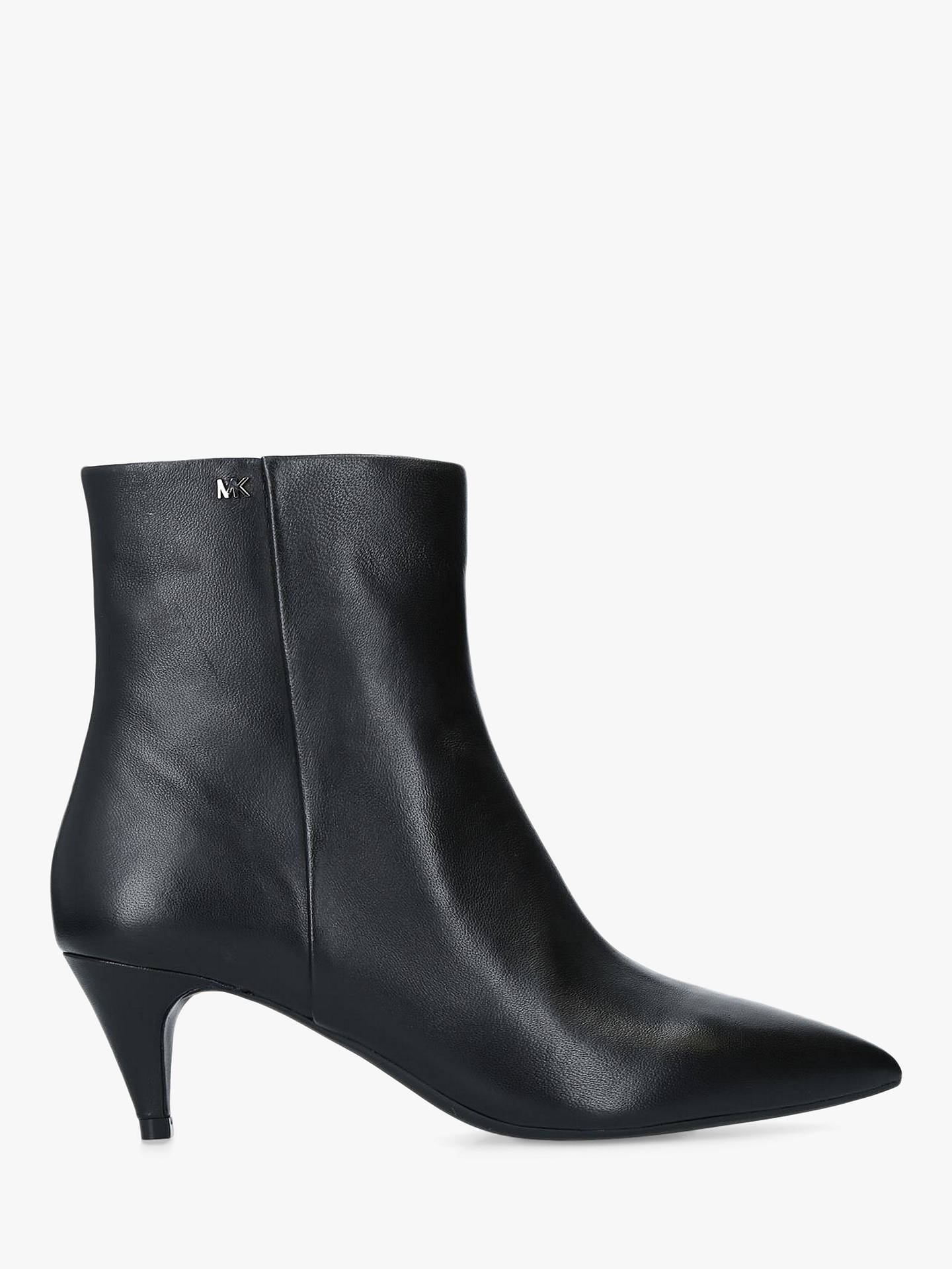 2c312779dc51 Buy MICHAEL Michael Kors Blaine Flex Kitten Heel Ankle Boots, Black  Leather, 7 Online ...