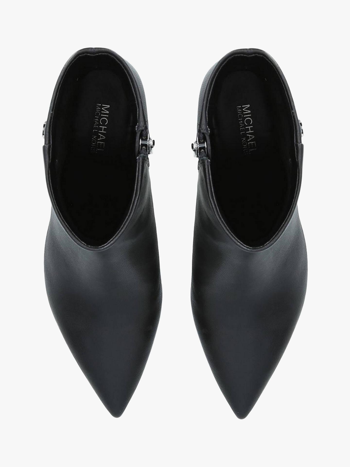460c247fd3211 ... Buy MICHAEL Michael Kors Blaine Flex Kitten Heel Ankle Boots, Black  Leather, 7 Online