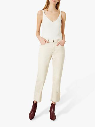 Iden Sylvia Straight Relaxed Jeans, Ivory White