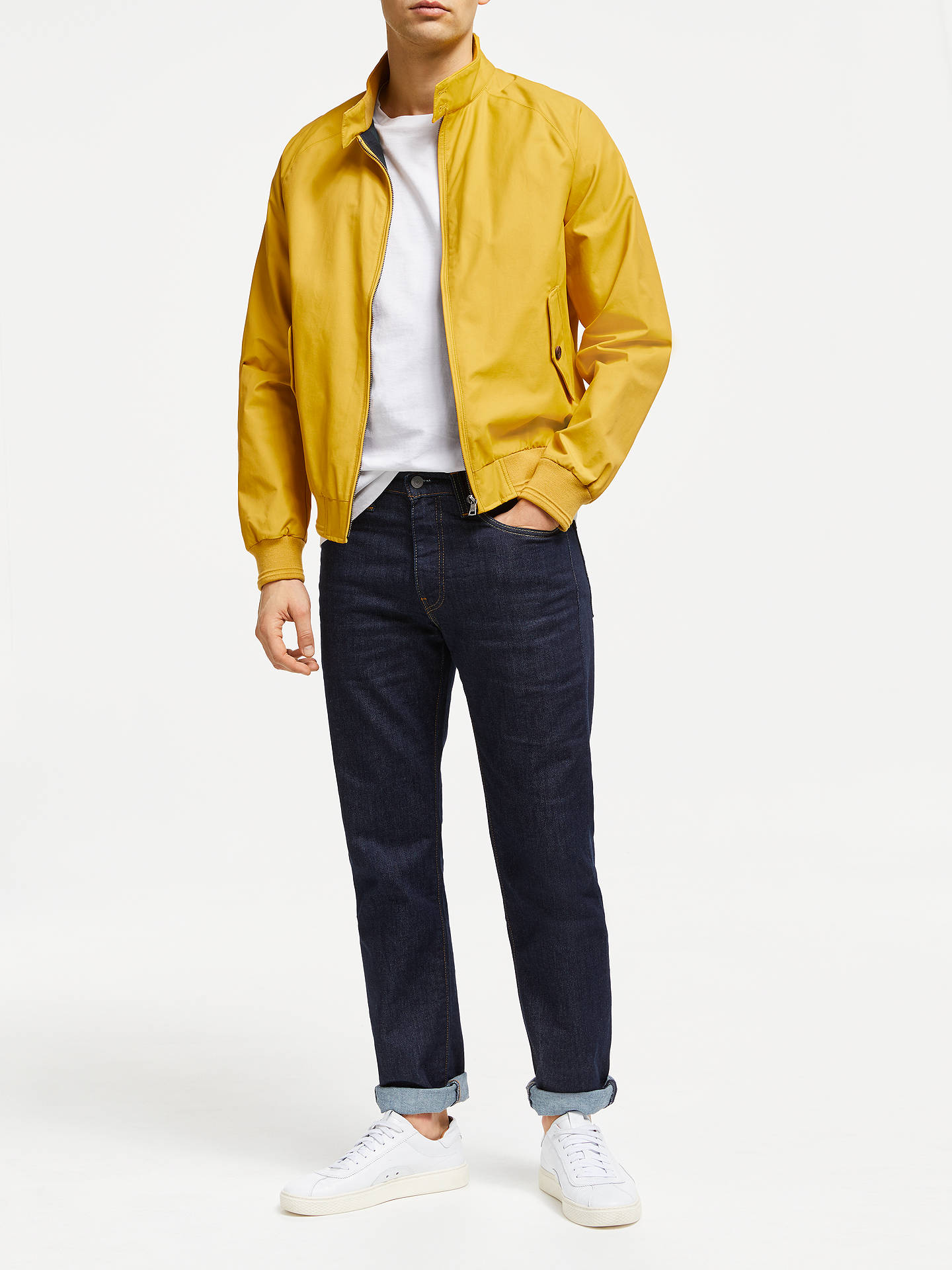 Buy John Lewis & Partners Shower Resistant Wallace Harrington Jacket, Yellow, S Online at johnlewis.com