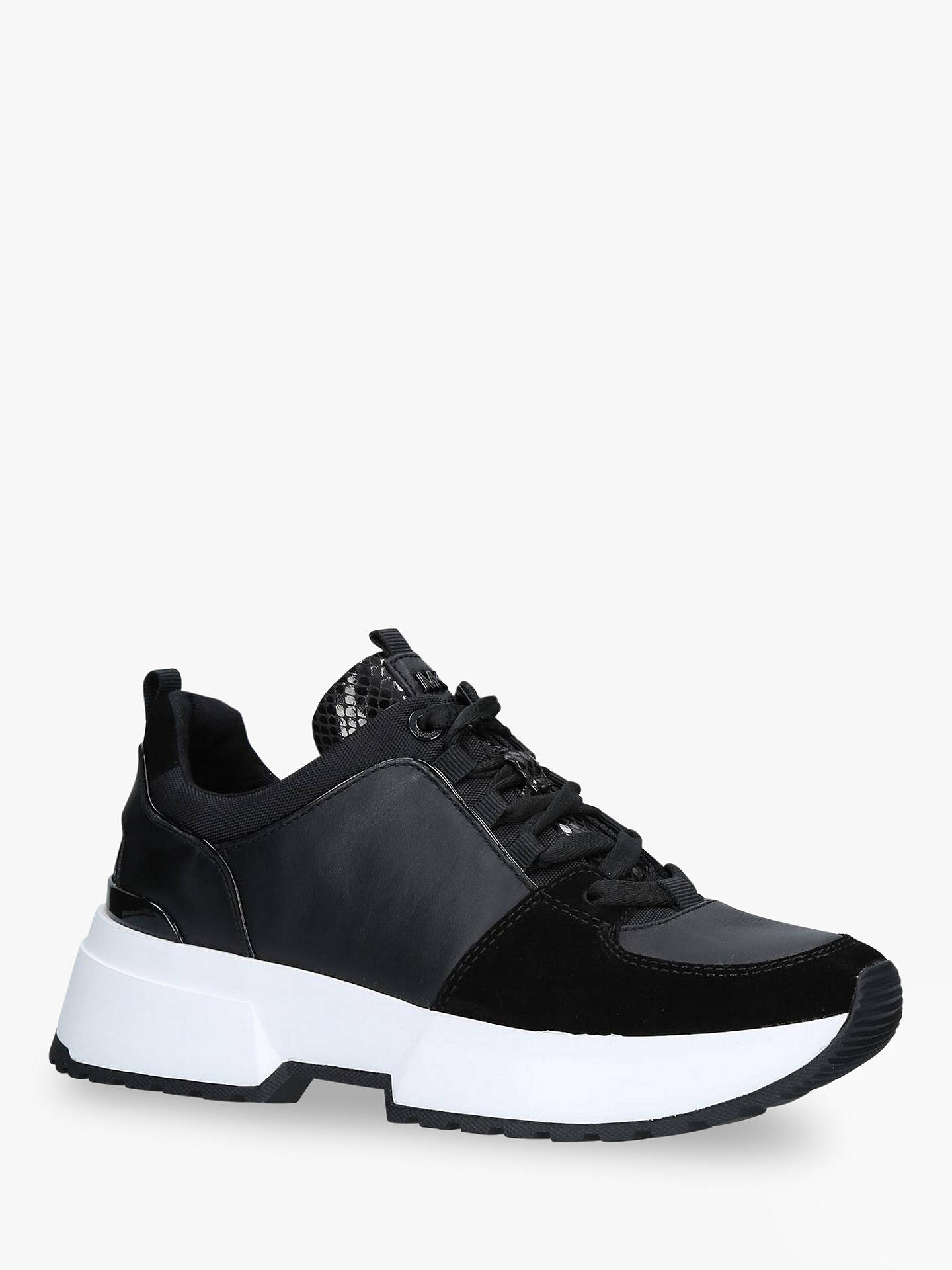 9752d3da025 Buy MICHAEL Michael Kors Cosmo Lace Up Trainers, Black, 3 Online at  johnlewis.