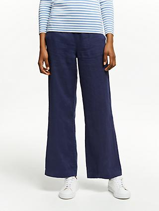 John Lewis & Partners Linen Wide Leg Trousers