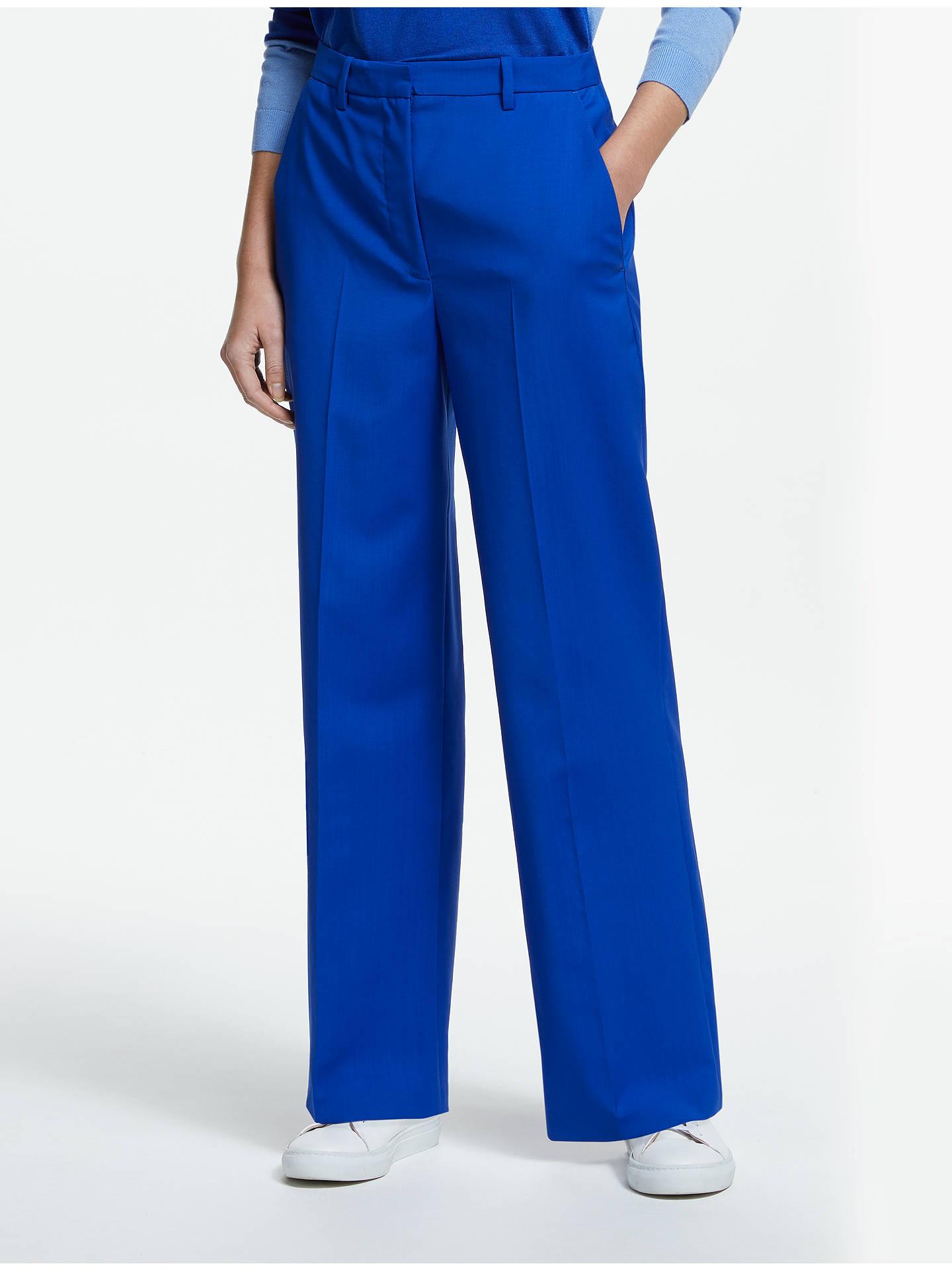 312a54caab John Lewis & Partners Wide Leg Trousers, Cobalt