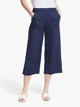 John Lewis & Partners Linen Safari Crop Trousers
