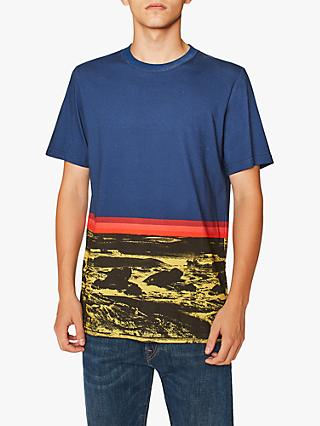 PS Paul Smith Landscape Short Sleeve Graphic T-Shirt, Navy