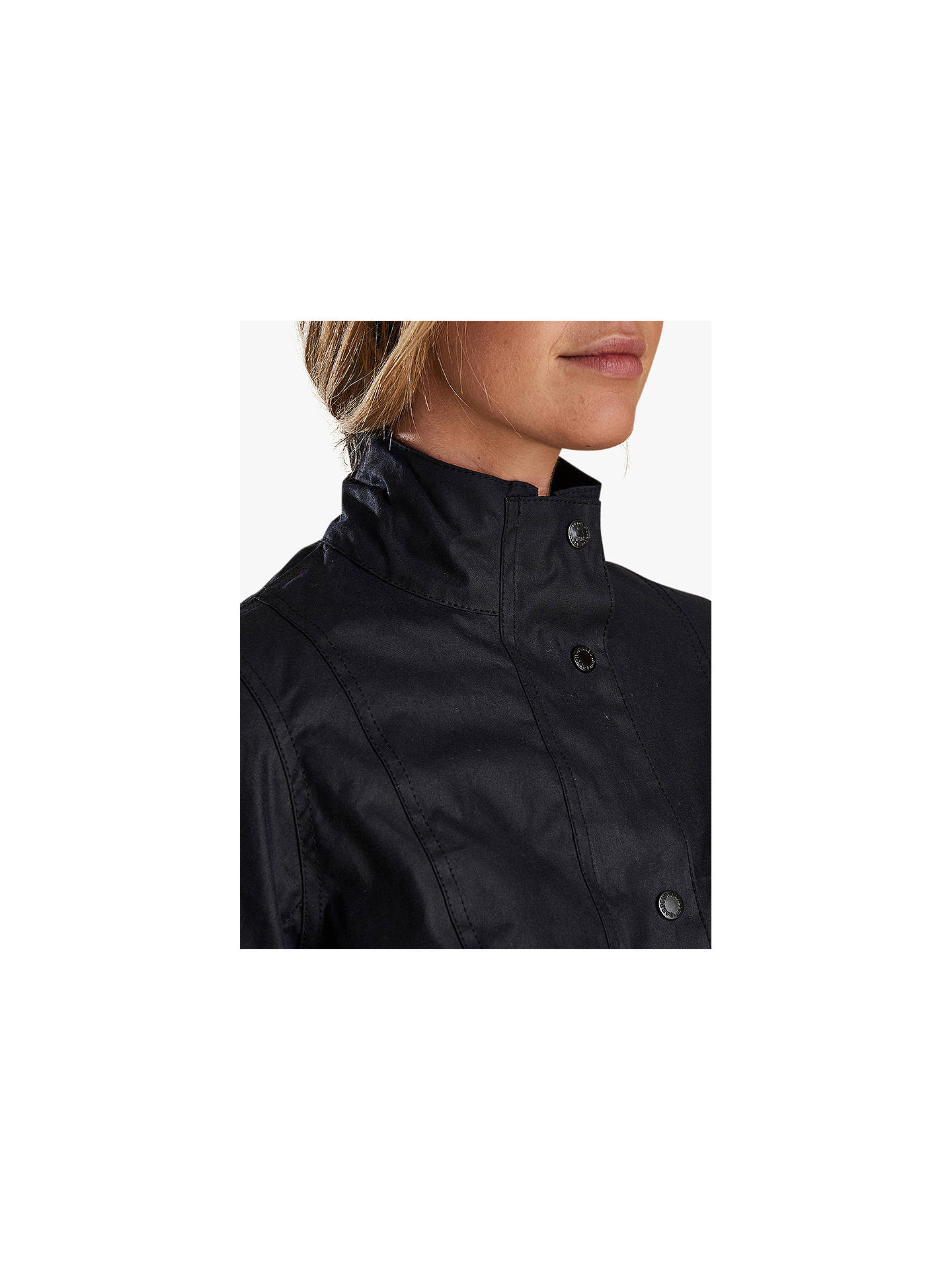 BuyBarbour Newquay Wax Cotton Jacket, Royal Navy, 8 Online at johnlewis.com