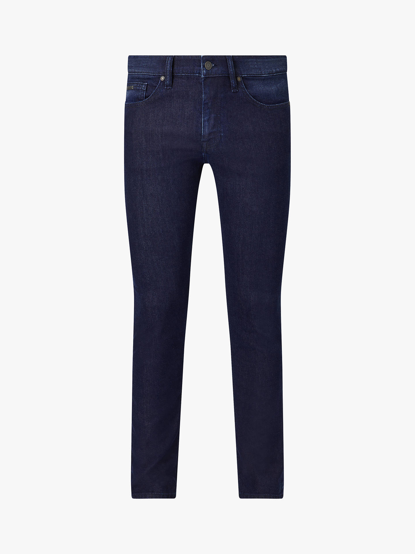 BuyBOSS Delaware Slim Fit Jeans, Navy, 30R Online at johnlewis.com