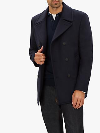 3d50bb60f99 Jaeger Double Face Check Peacoat