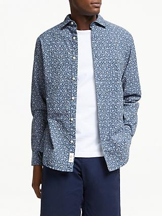 John Lewis & Partners Regular Fit Ditsy Chambray Shirt, Indigo