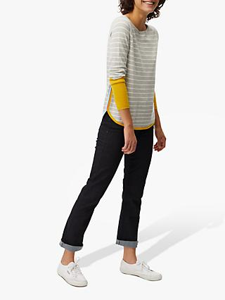 White Stuff Flurry Stripe Jumper, Grey Multi