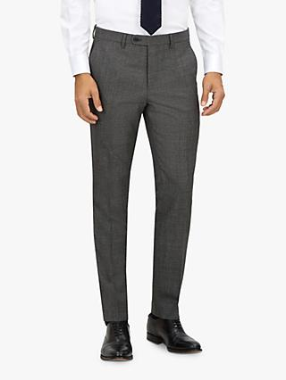 Jaeger Wool Textured Slim Fit Suit Trousers, Charcoal