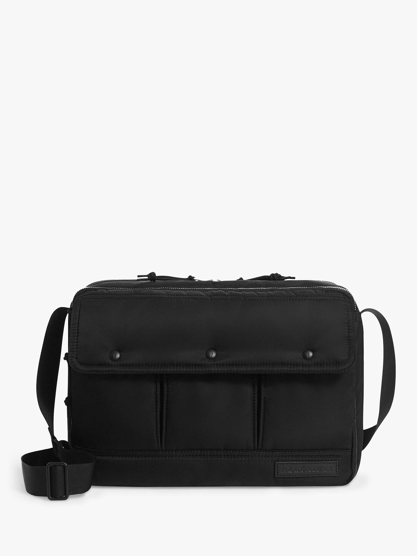 Buy AllSaints Kansai Messenger Bag, Black Online at johnlewis.com