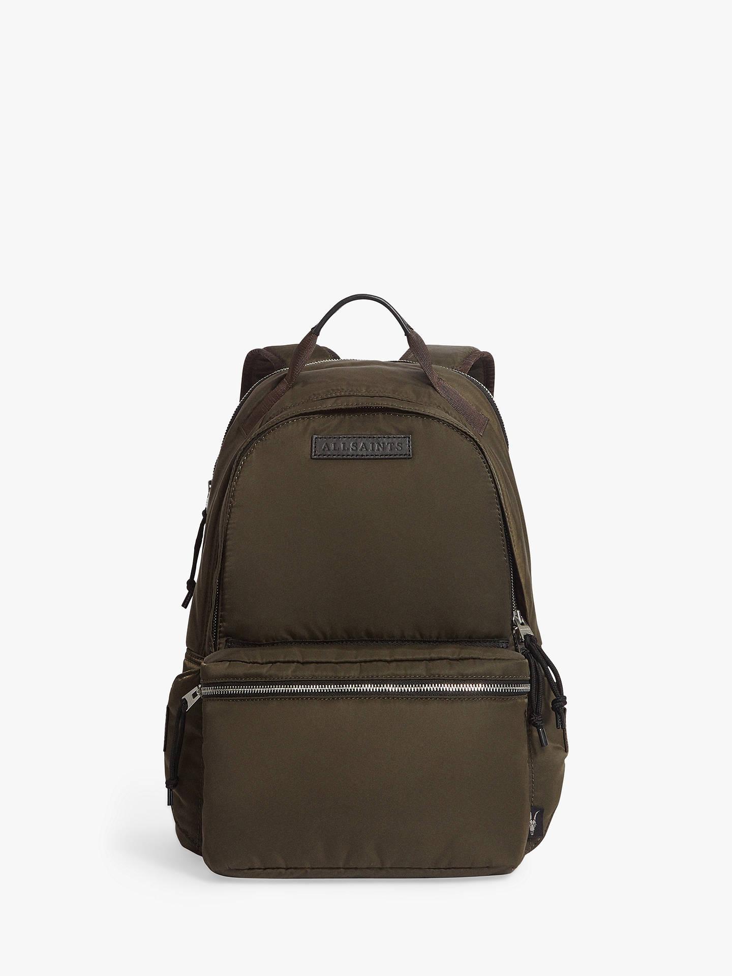 e00959e51 Buy AllSaints Kansai 2 in 1 Backpack, Dark Khaki Brown Online at  johnlewis.com ...
