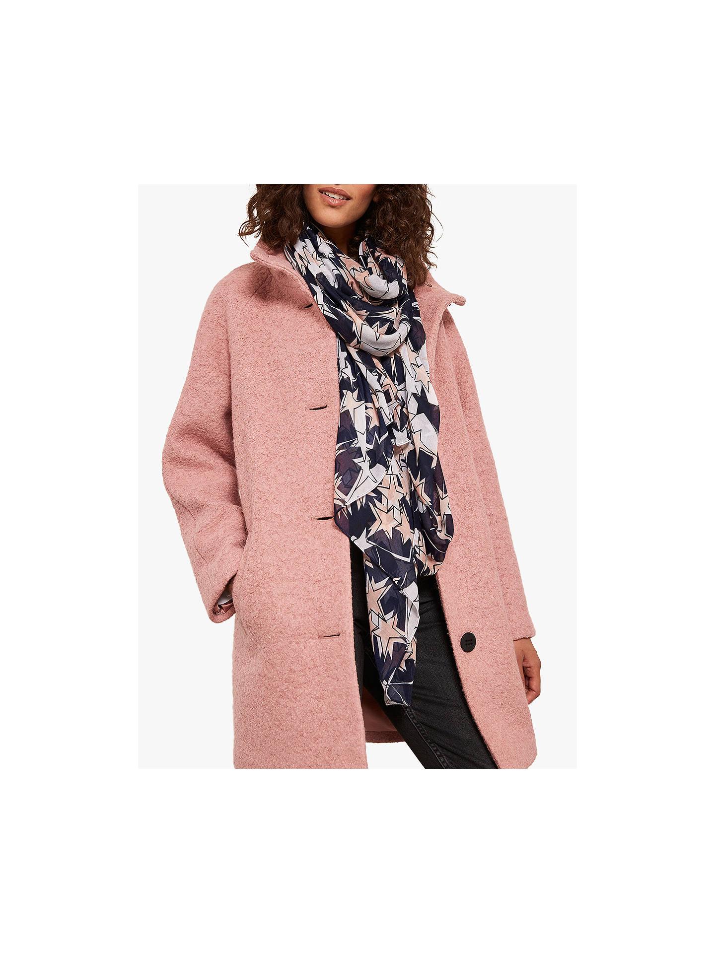 Mint Velvet Ava Star Print Scarf, Light Pink