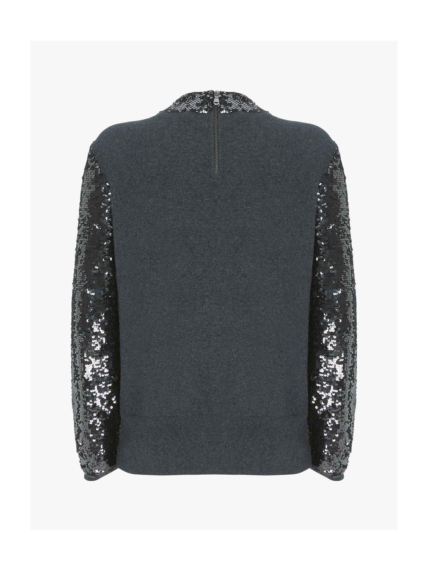 £79 Mint Velvet embroidered floral sleeves knit sweatshirt jumper NEW! Chic!