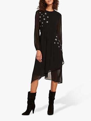 Mint Velvet Star Embroidered Midi Dress