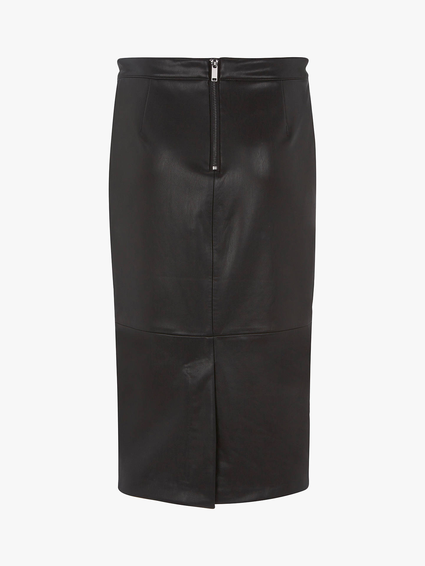stable quality top design first rate Mint Velvet Leather Look Pencil Midi Skirt, Black at John ...