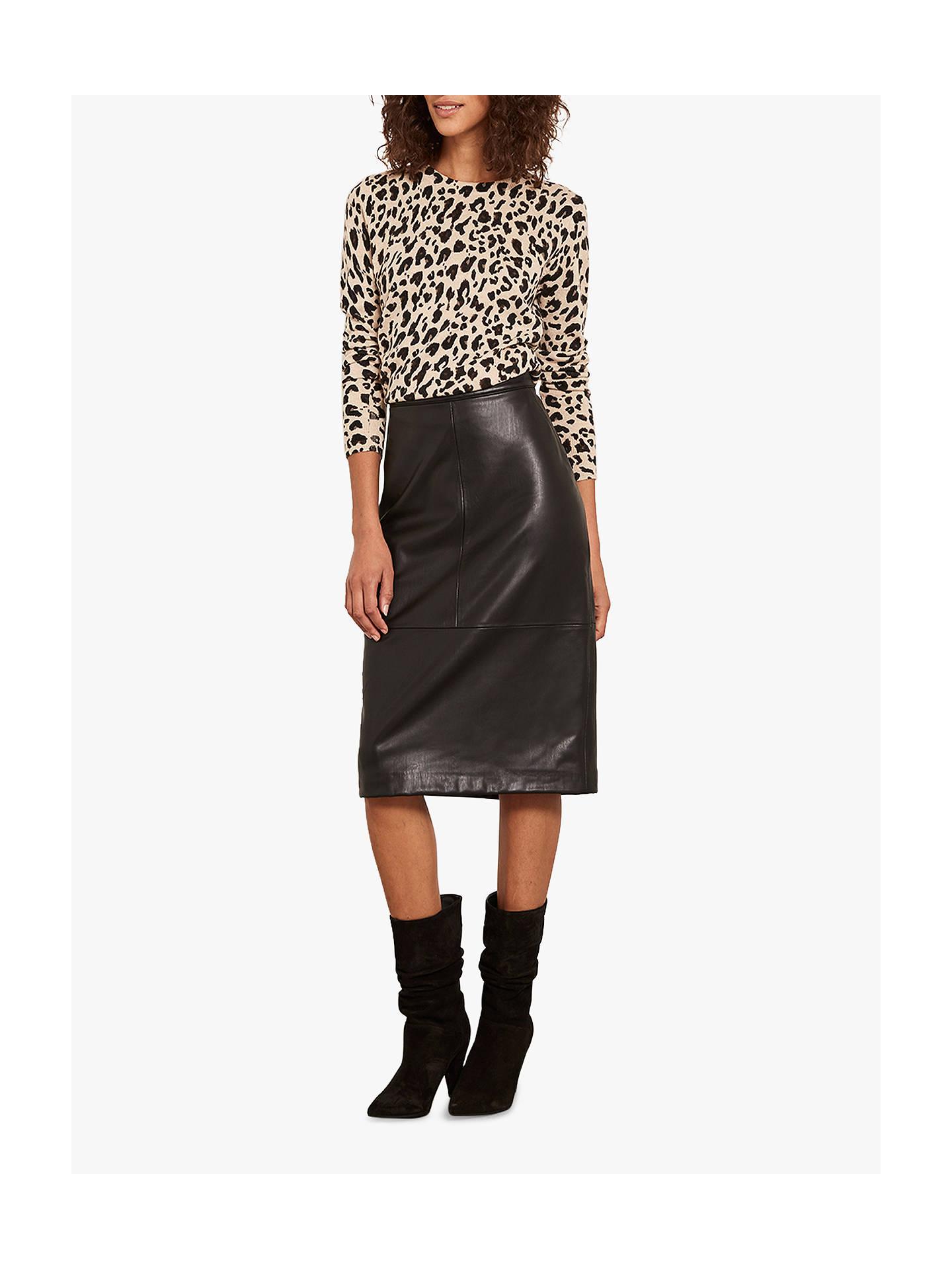 a48cf12b5d Buy Mint Velvet Leather Look Pencil Midi Skirt