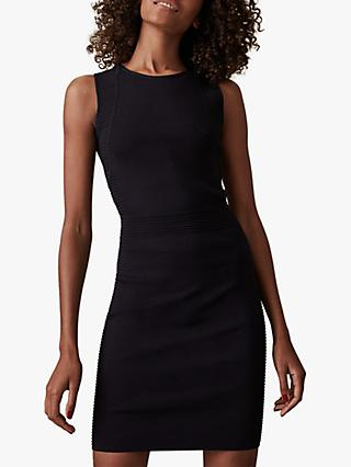 Reiss Diana Rib Knit Bodycon Dress, Black