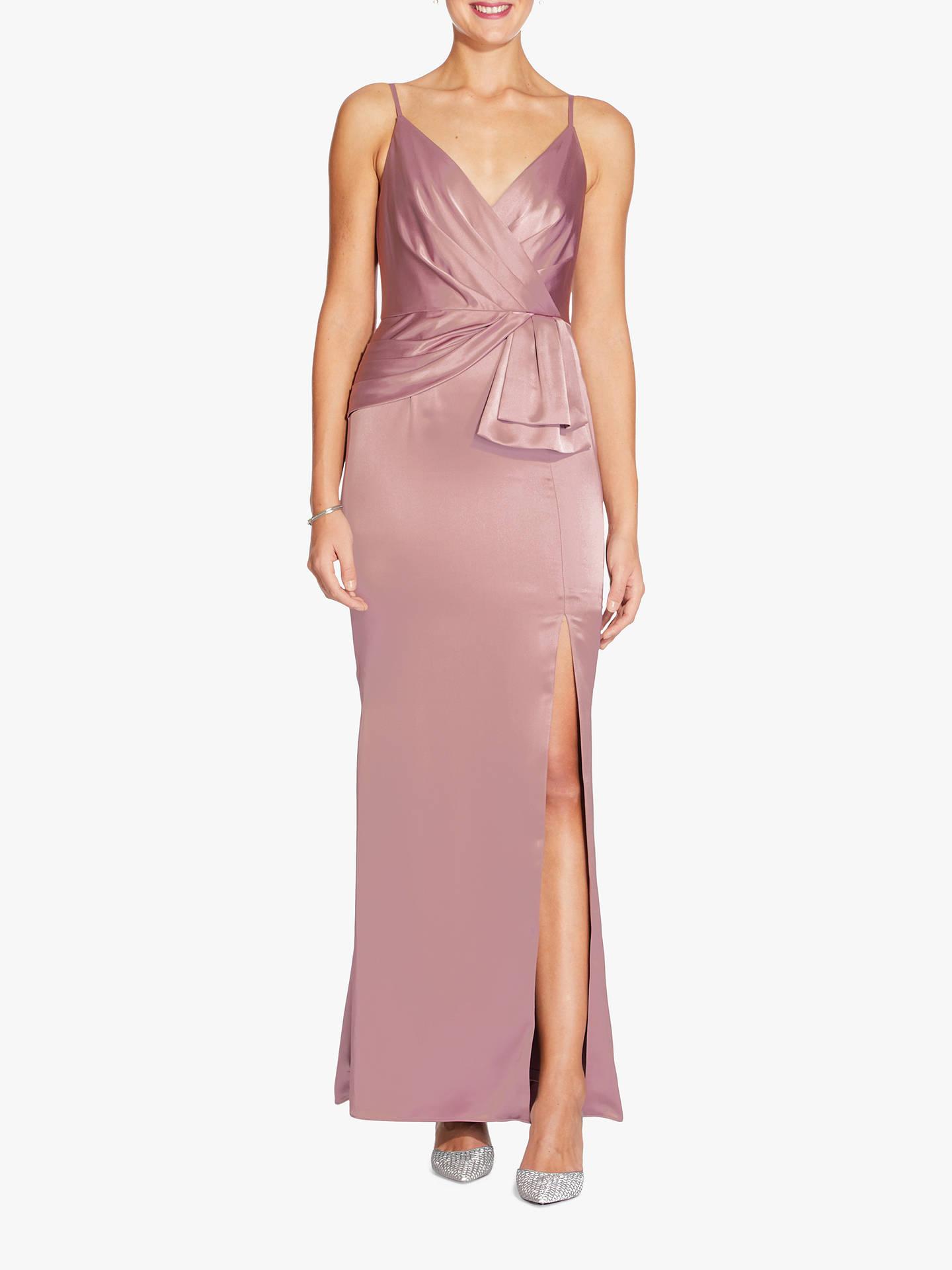 706ed1378f7 Adrianna Papell Light Satin Wrap Dress, Rose