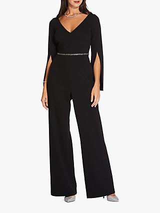 Adrianna Papell Petite Long Jumpsuit, Black