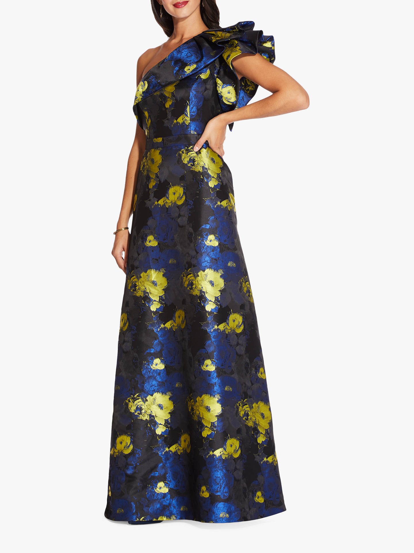 885423a96e7 Adrianna Papell Long Floral Jacquard Dress