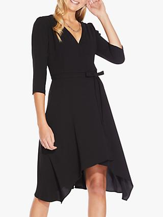 Adrianna Papell Bow Wrap Dress, Black