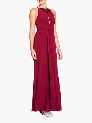 Adrianna Papell Matte Jersey Maxi Dress, Red Plum