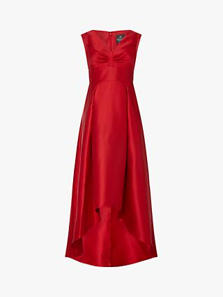 Adrianna Papell High Low Mikado Dress, Red