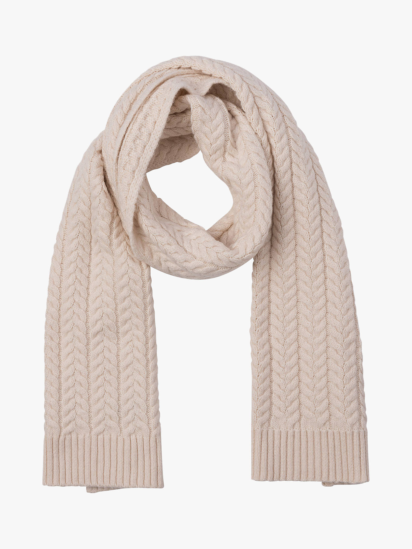 c2e7e1eba80a1 Buy French Connection Rita Cable Knit Scarf, Classic Cream, One Size Online  at johnlewis ...