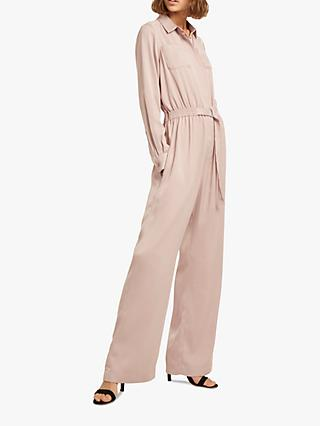 French Connection Enid Crepe Jumpsuit, Maple Sugar