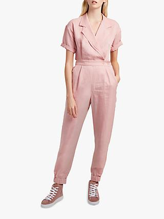 French Connection Caspia Linen Jumpsuit, Teagown