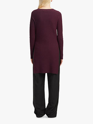 Buy French Connection Split Side Tunic Jumper, Plum Noir, M Online at johnlewis.com