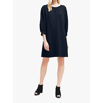 French Connection Abelena Jersey Cropped Sleeve Dress, Utility Blue