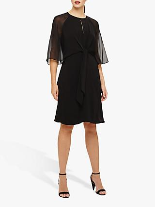Phase Eight Lucia Tie Dress, Black