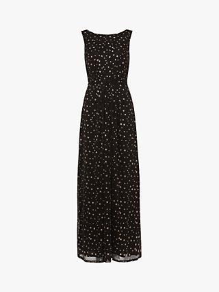 Phase Eight June Star Maxi Dress, Black/Rose Gold