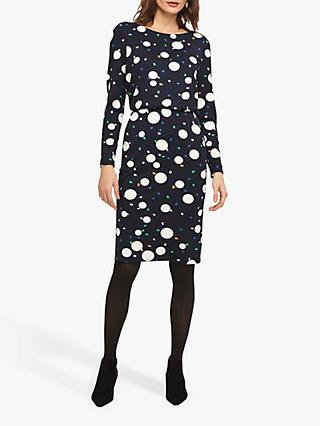 Phase Eight Bubble Print Dress, Navy/Multi