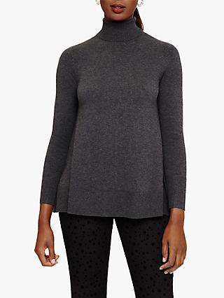 Phase Eight Suzie Knit Jumper, Charcoal Marl