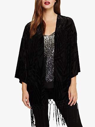 Phase Eight Prue Palm Kimono, Black