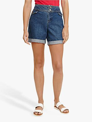 Phase Eight Darenna Denim Shorts, Indigo