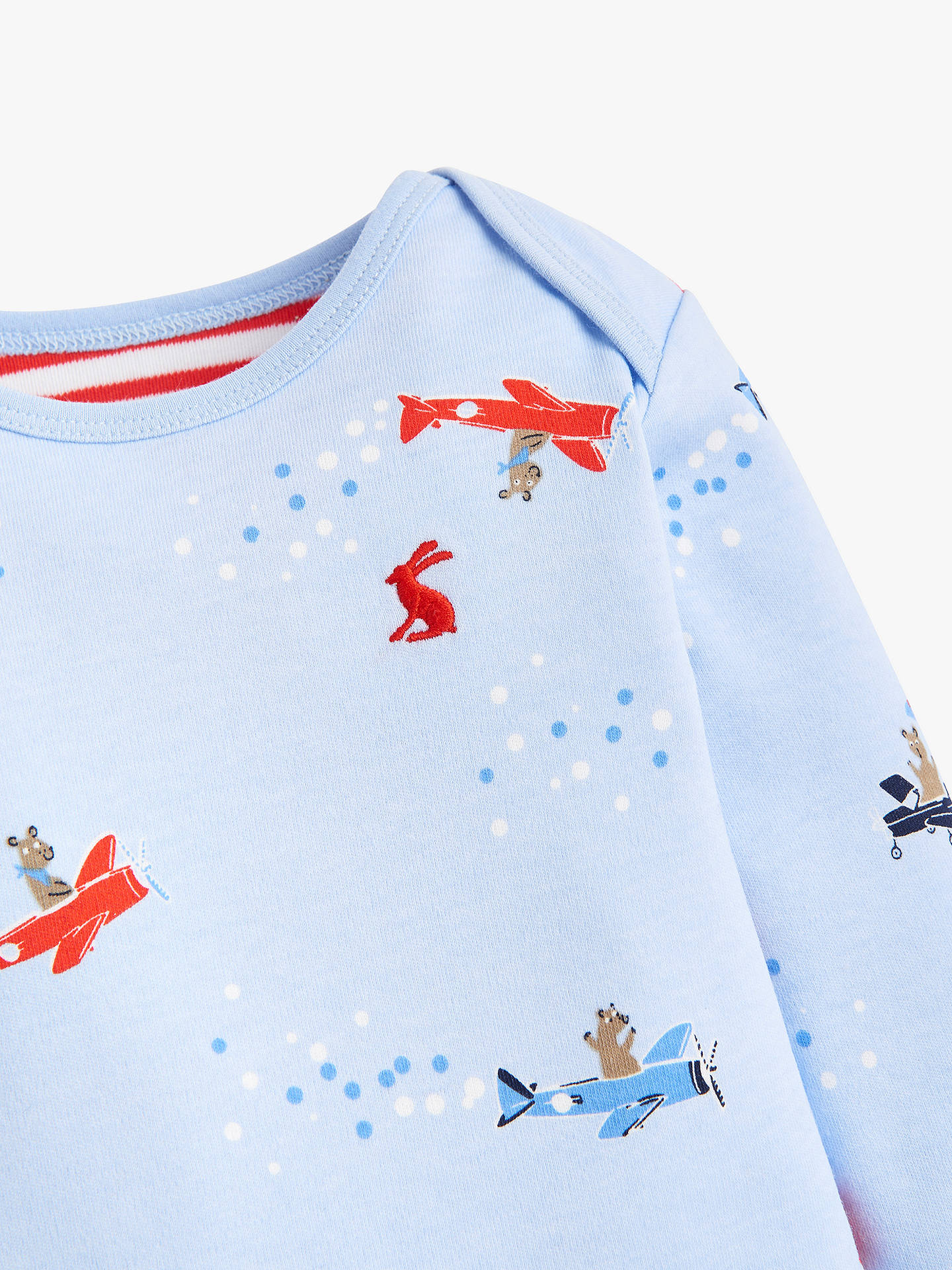 Buy Baby Joule Snazzy Sky Bodysuit, Blue, 18-24 months Online at johnlewis.com