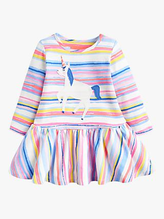 Baby Joule Matilda Jersey Applique Dress, Pink/Multi