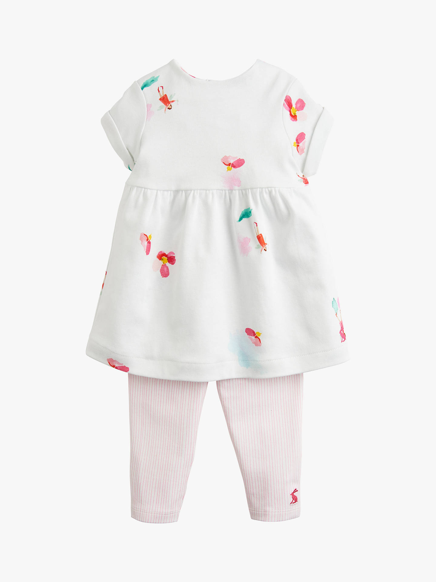 c74900f26 Buy Baby Joule Seren Floral Dress and Leggings Set, White/Pink, 0- ...