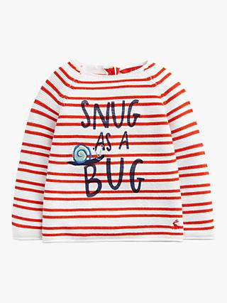 Baby Joule Barney Knitted Jumper, Red