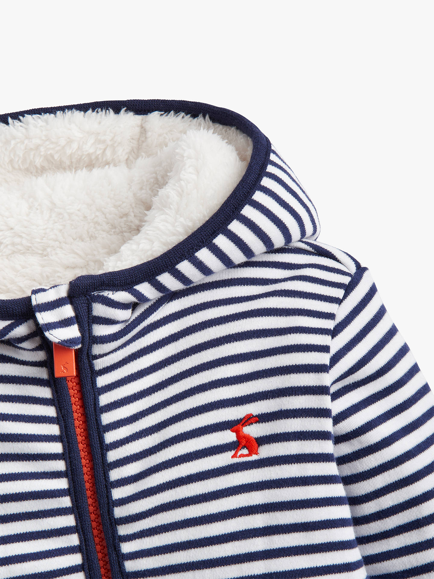 BuyBaby Joule James Stripe Reversible Jacket, White/Navy, 0-3 months Online at johnlewis.com
