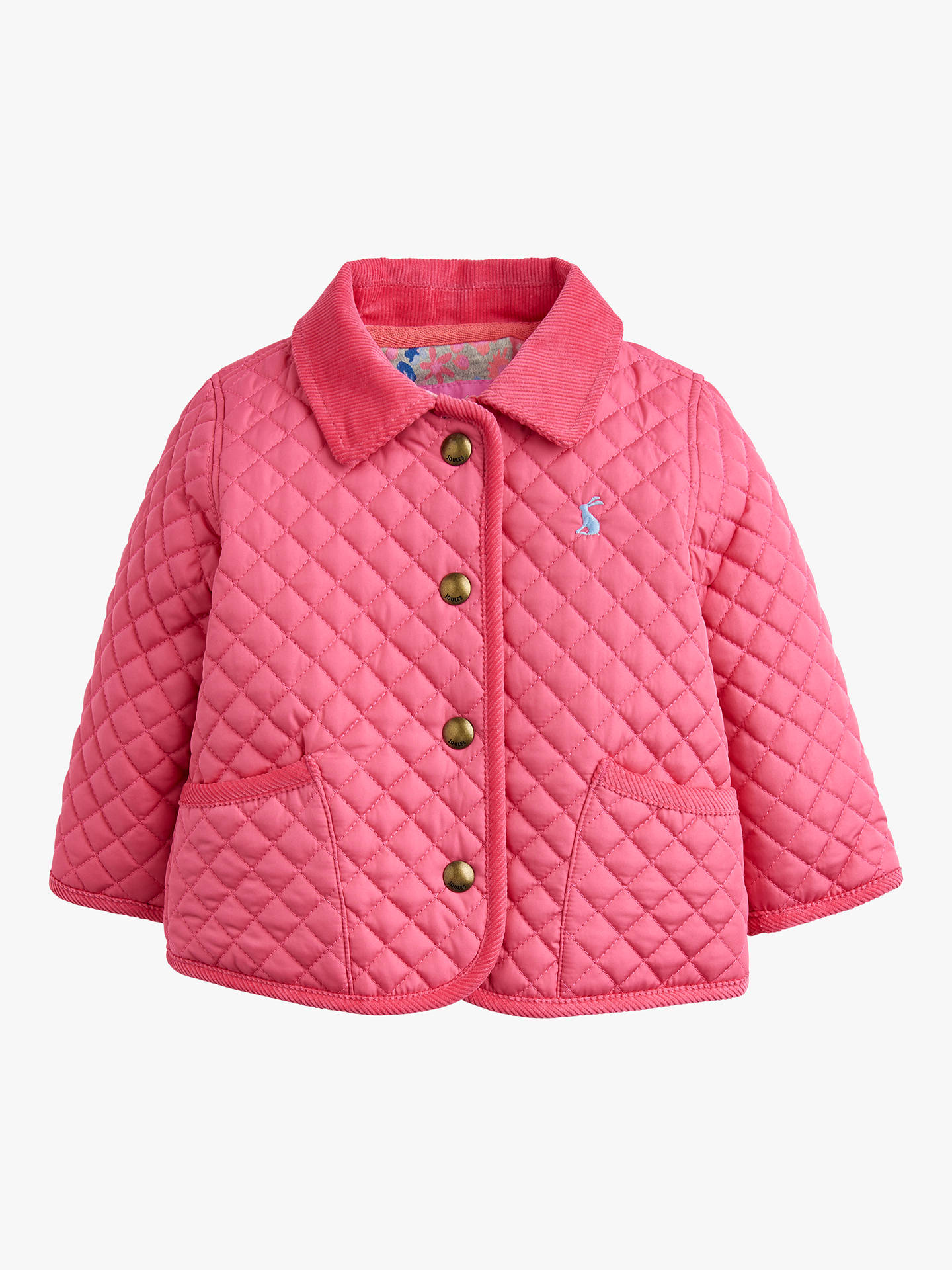 ever popular closer at top-rated latest Baby Joule Mabel Quilted Jacket, Hot Pink at John Lewis ...