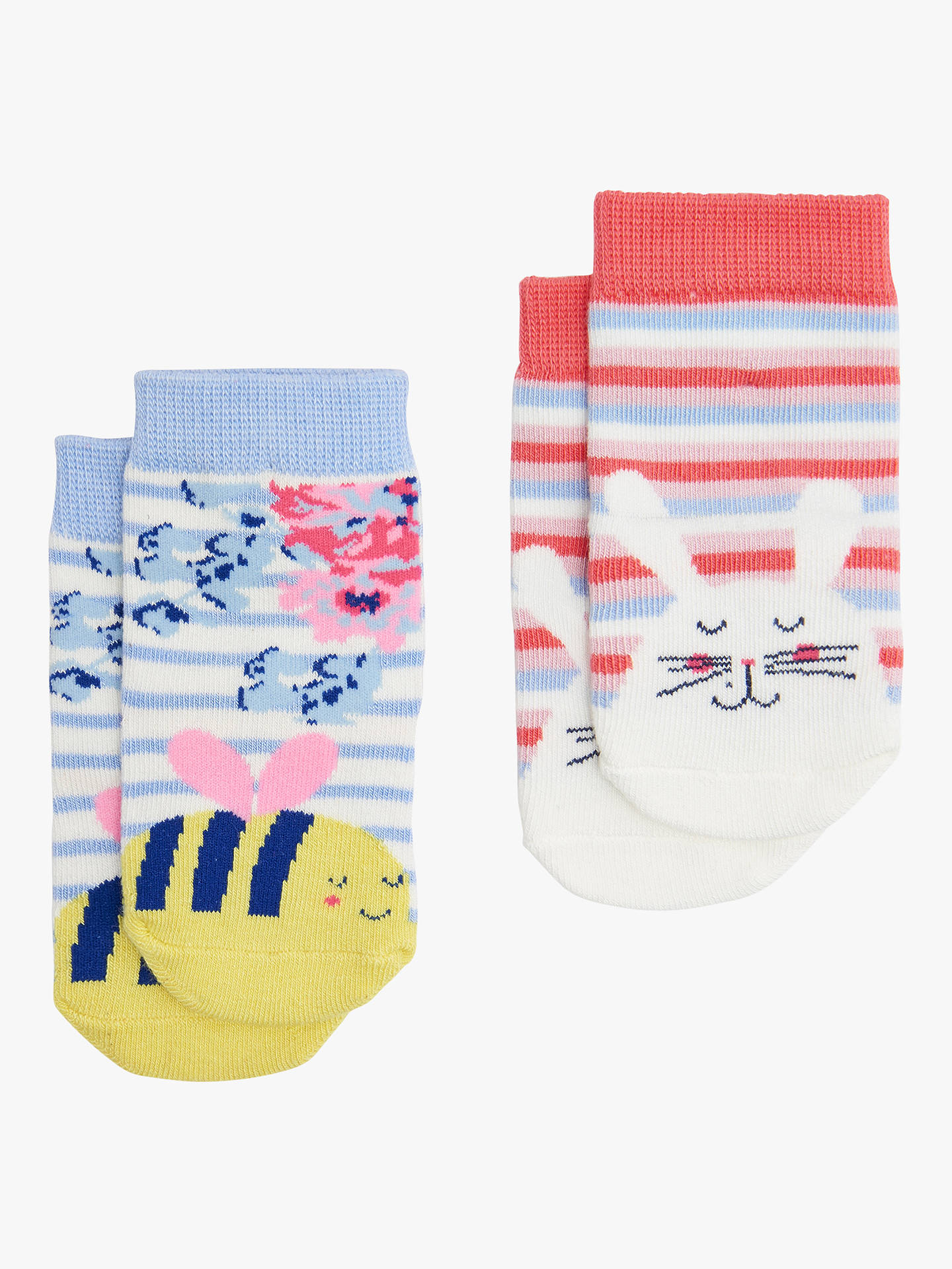Pack of 2 Joules Baby Girls Neat Feet Socks